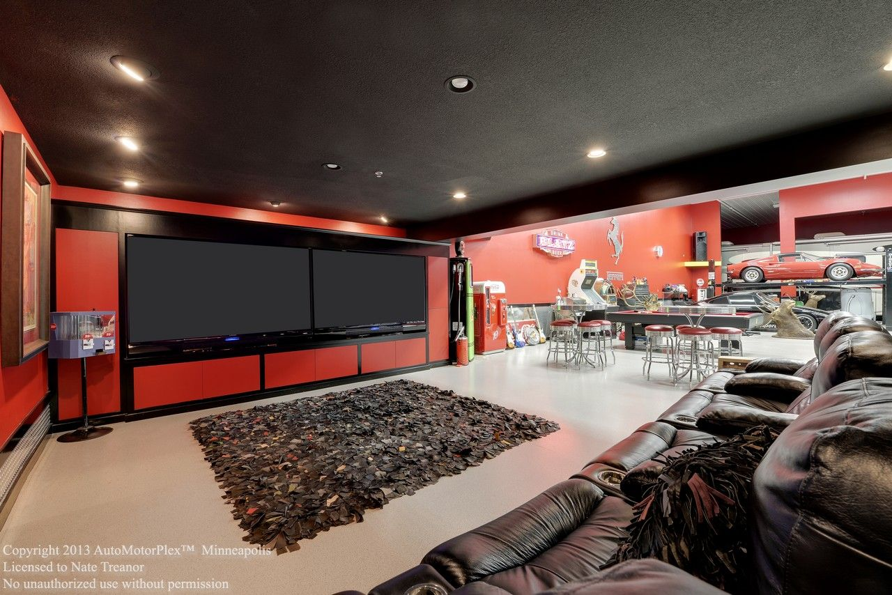Modern luxury garage man cave filed under garages