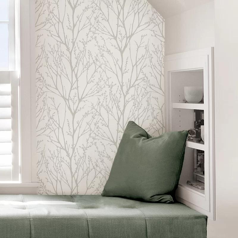 Sanchaya Treetops 18 L X 20 5 W Peel And Stick Wallpaper Roll In 2021 Nuwallpaper Home Decor Peel And Stick Wallpaper