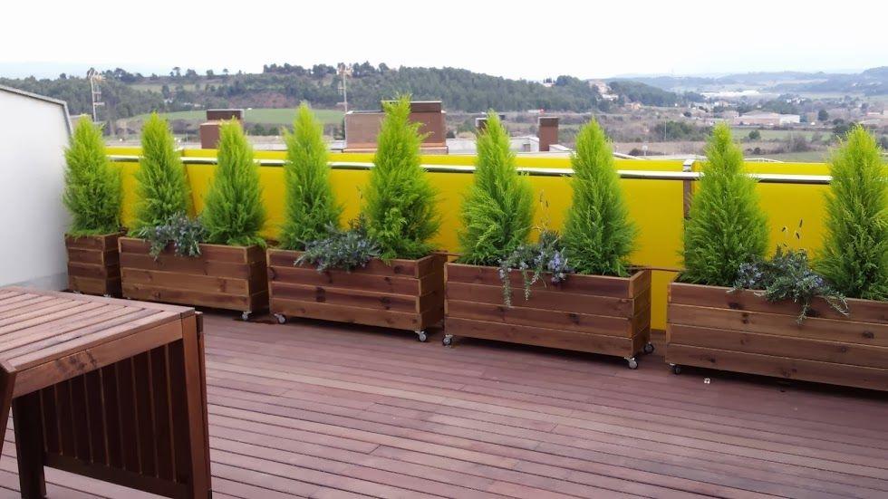 Jardineras De Madera Terraza Con Jardineras Jardineras De