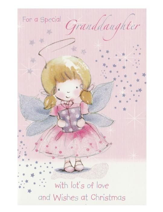 Photo of Christmas Card – For A Special Granddaughter – Angel