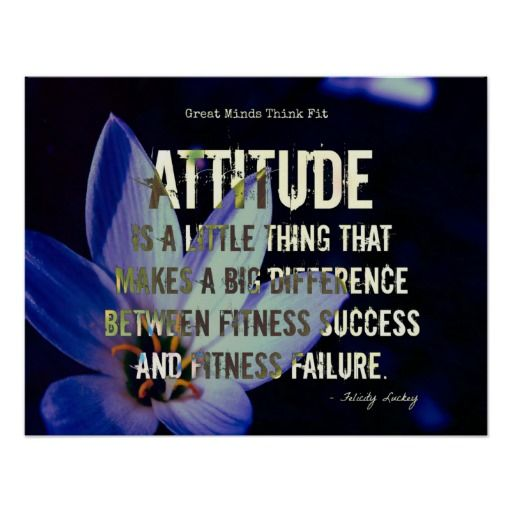 Attitude! #Fitness Flower on Blue Poster > Sold today > #gratitude