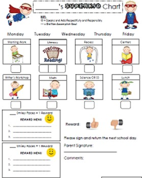 Super Kid Behavior Modification Chart | Special Education ...