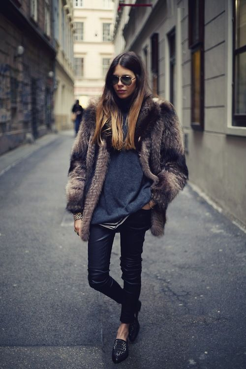fur coat, fur jacket, chic, style, winter style, winter fashion, model, fashion blogger, durupaper.com #kate_spade