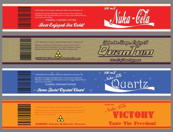 Packaging Dylan Shearer Nuka Cola Quantum Nuka Cola Label Labels