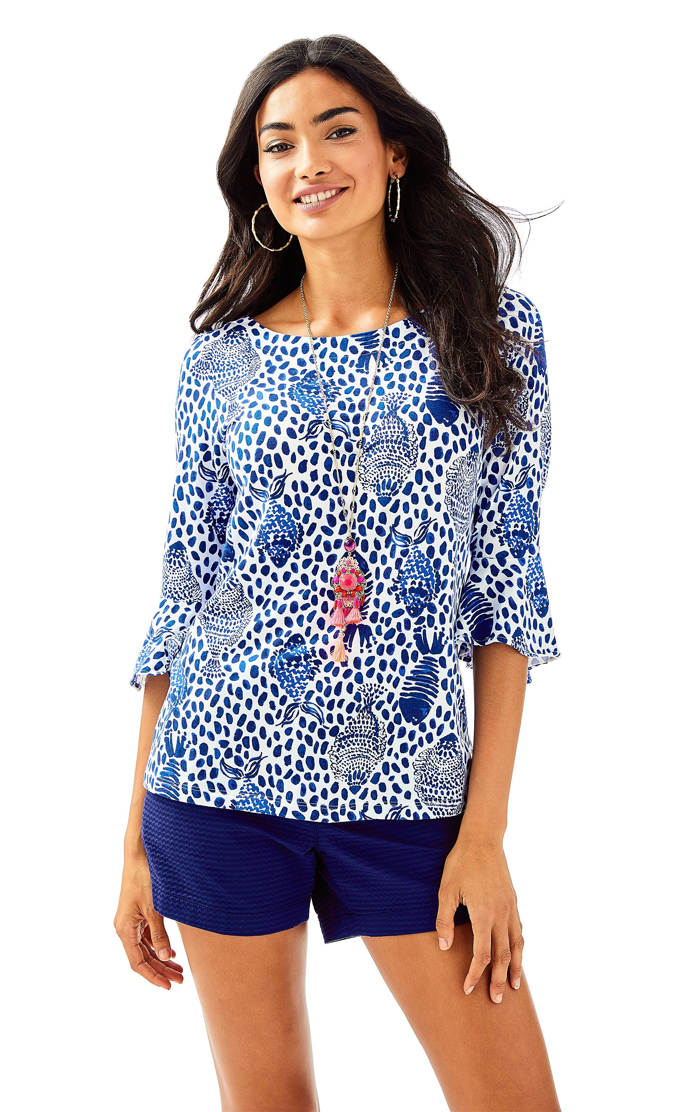 0caee0c84d57f7 Fontaine Top in High Tide Navy Heart and Sole   Products   Tops ...