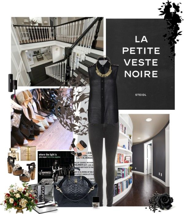 """""""Today's outfit - Total black"""" by solespejismo ❤ liked on Polyvore"""