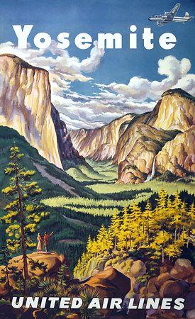 Yosemite National Park Travel Vintage Poster Art Print