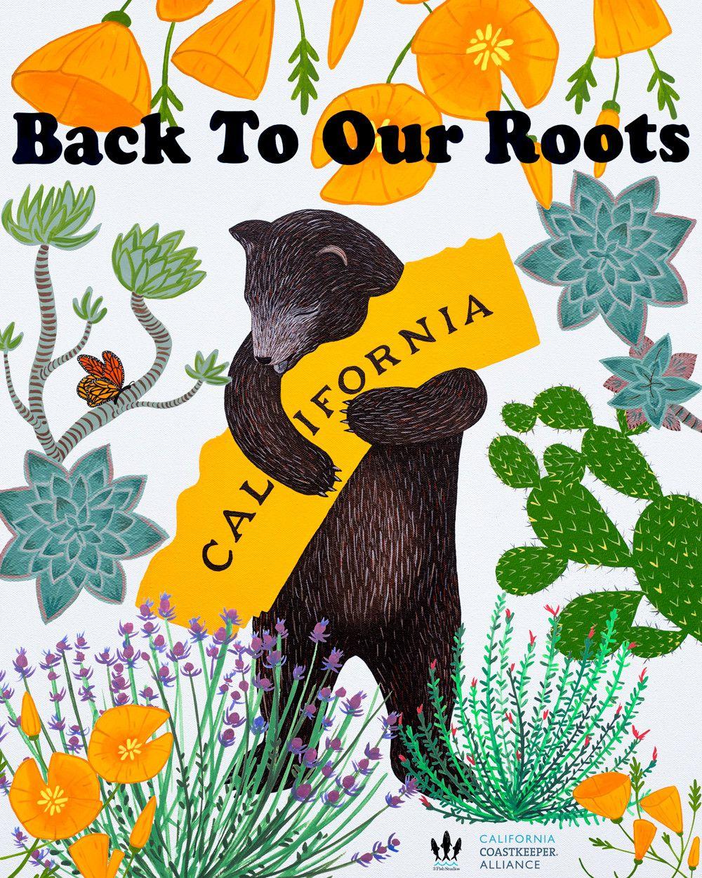 California drought awareness bear california art