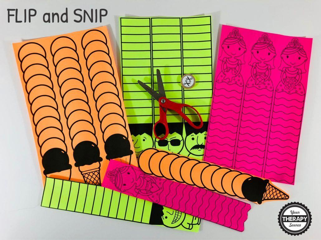 Flip And Snip Scissor Practice Game
