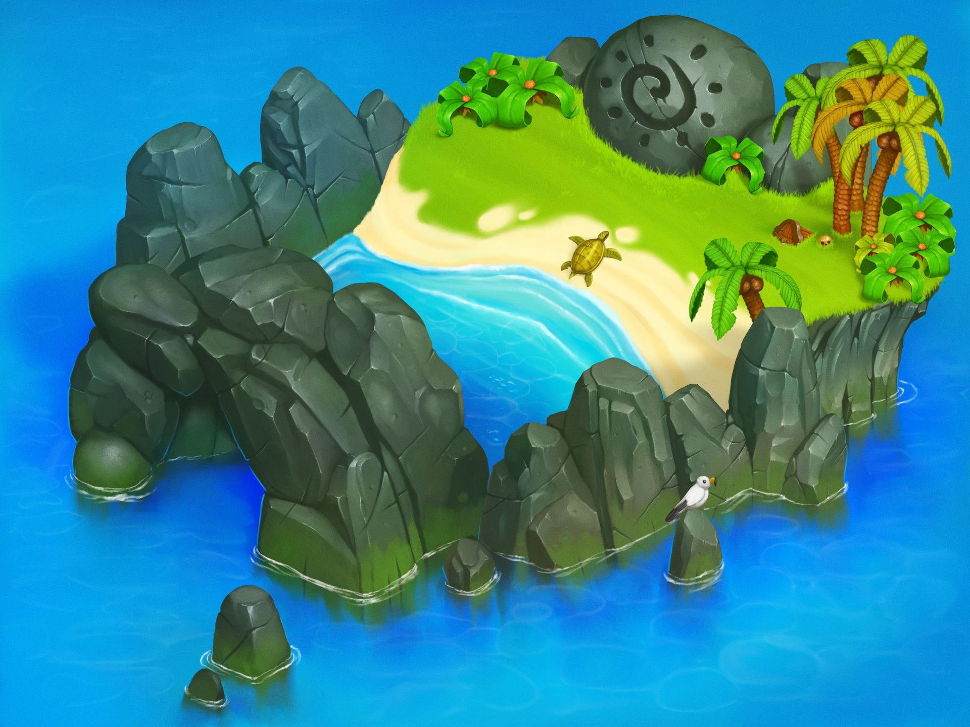 Artstation Isometric Island Konstantin Gorelov
