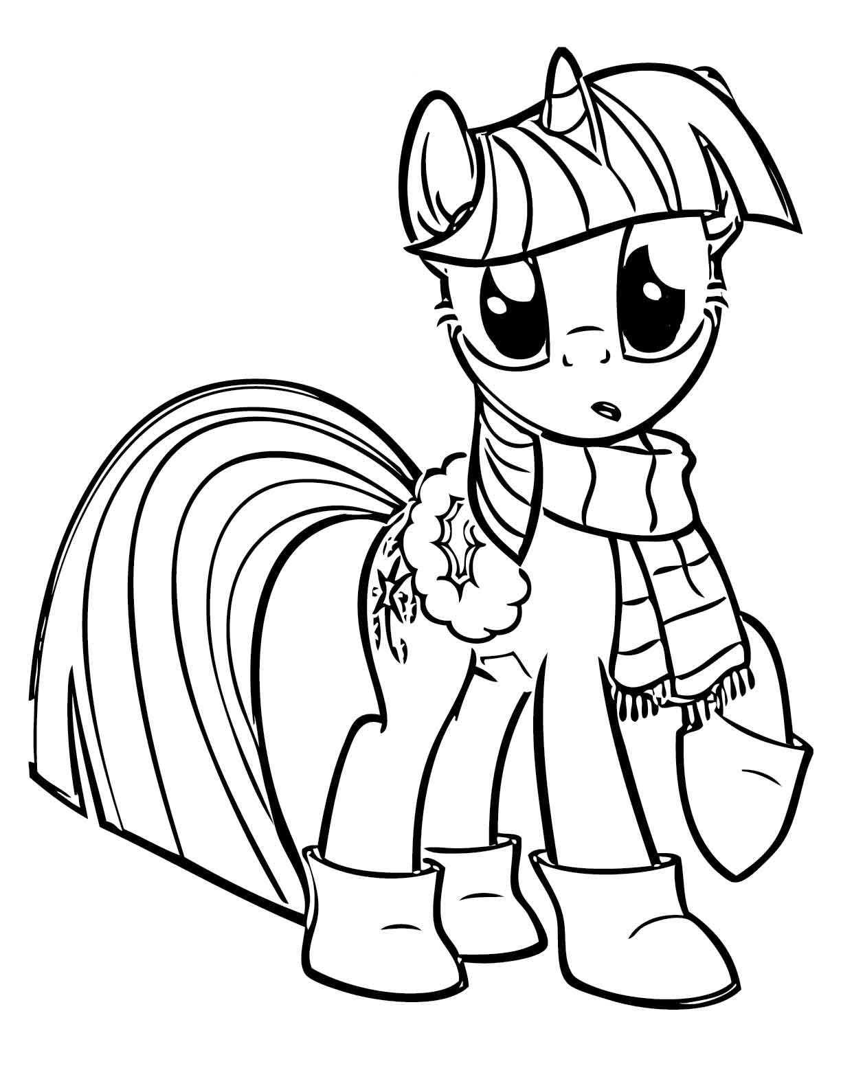 My little pony coloring pages birthday