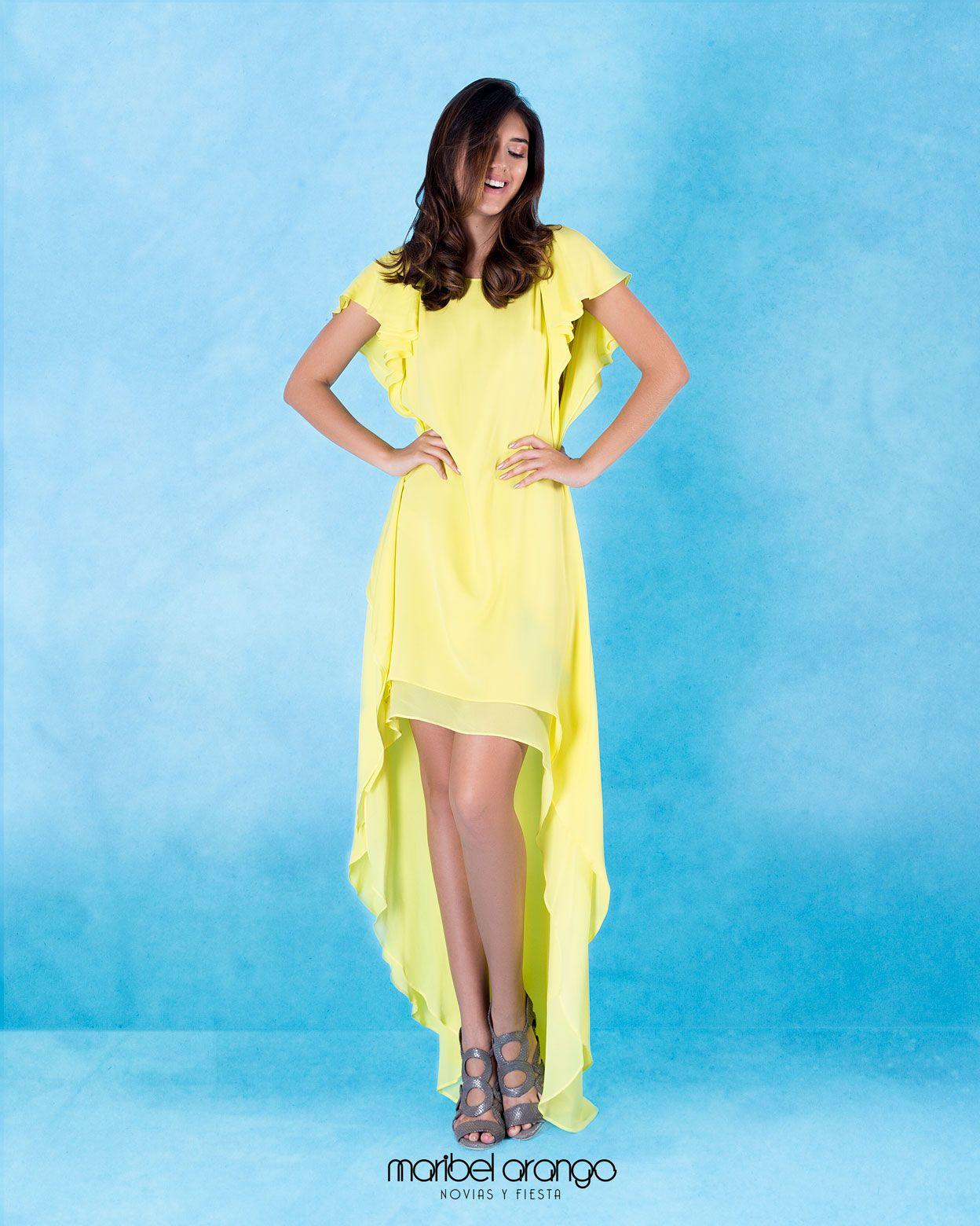 Vestido de Fiesta Amarillo - Colección 2018 - Alquiler de Vestidos ...