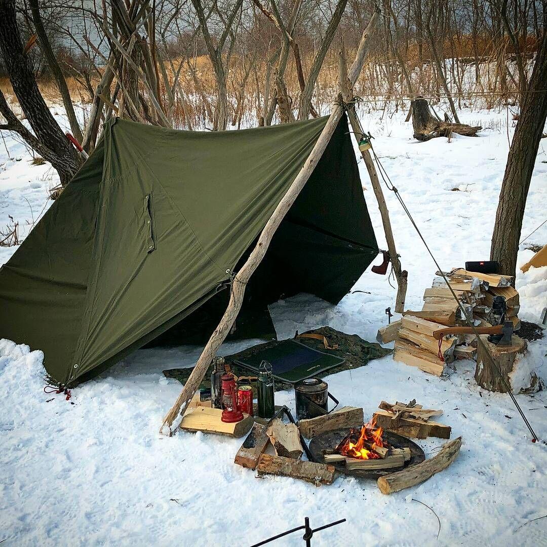 Indian Wilderness Survival Skills: Great Looking Camp From @hirosoutdoor!