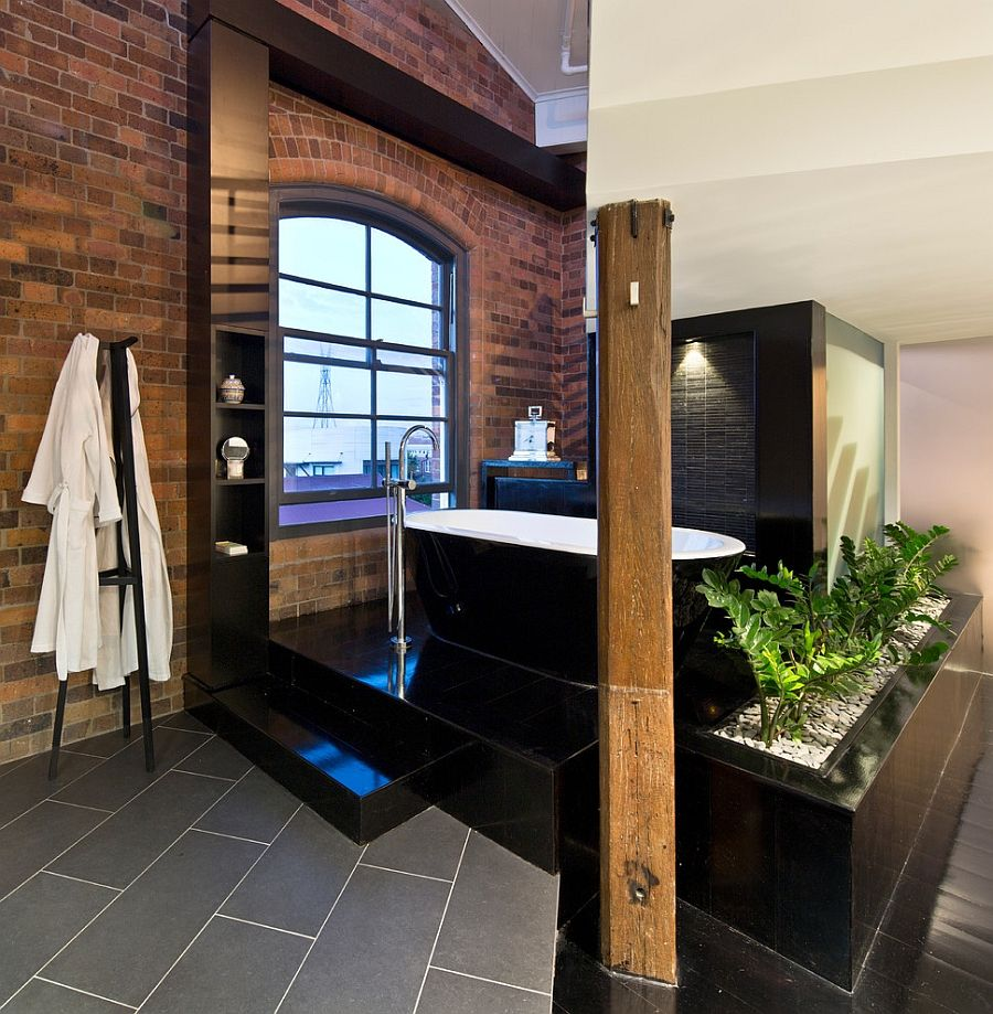 Industrial Bathroom With A Spa Like Appeal [Design: TONIC Design]