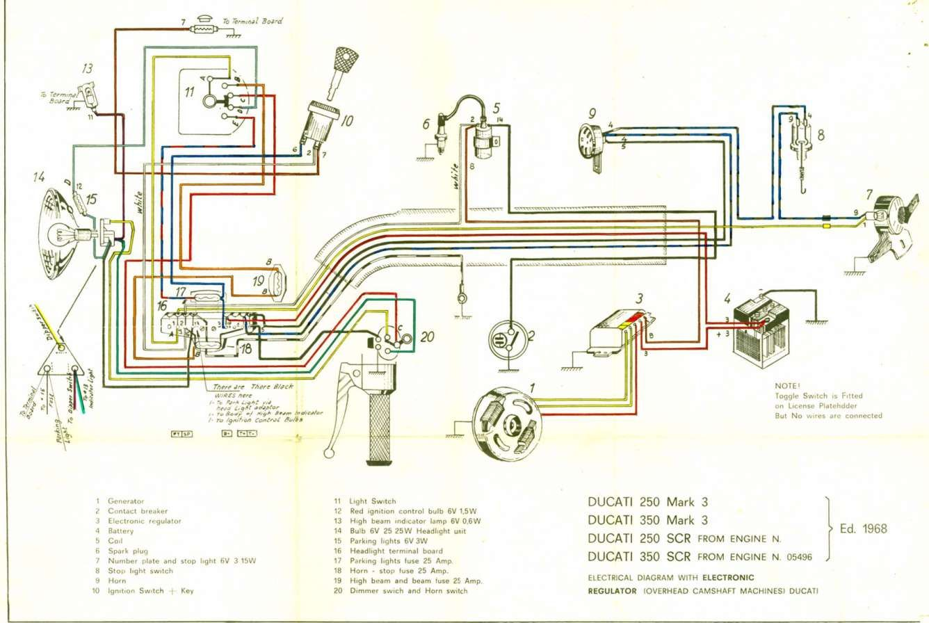12 6v Coil Motorcycle Wiring Diagram Motorcycle Wiring Ducati Diagram