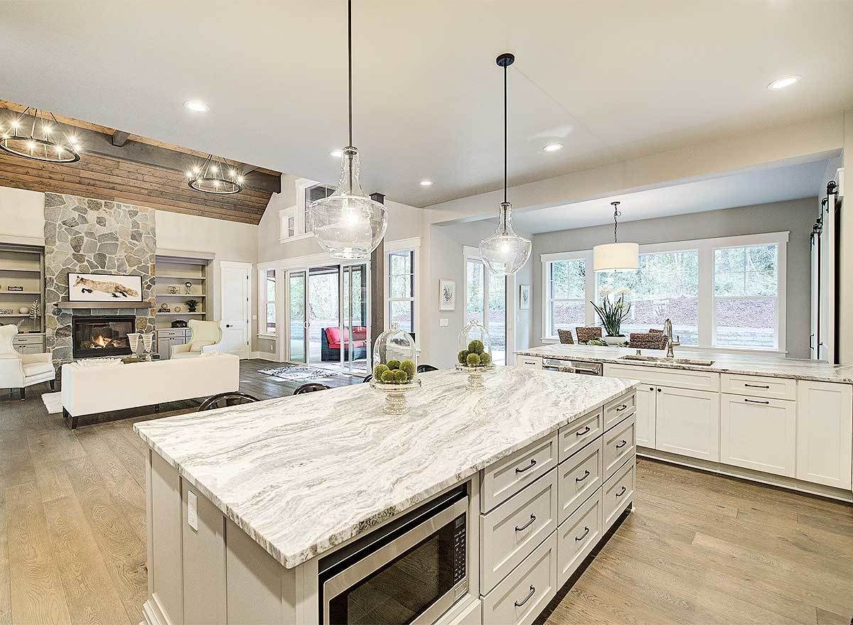 Amazing One Level Craftsman House Plan - 23568JD - 17 | The one with on craftsman home design ideas, houzz kitchen design, colonial home kitchen design, modern colonial kitchen design, craftsman home interior design, craftsman home exterior design, coffered ceiling kitchen design,