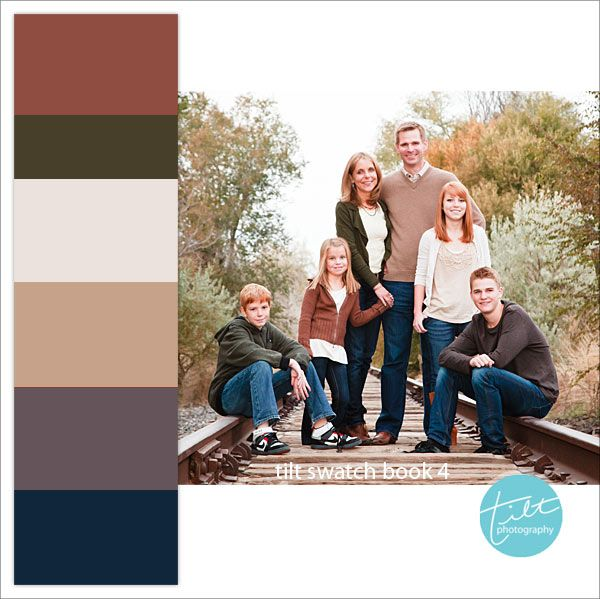 Family photo color schemes with swatches for reference! tiltphotography.com