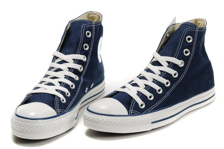 Converse All Star Canvas Ox Unisex Chuck Taylor Trainers High Top Night Blue