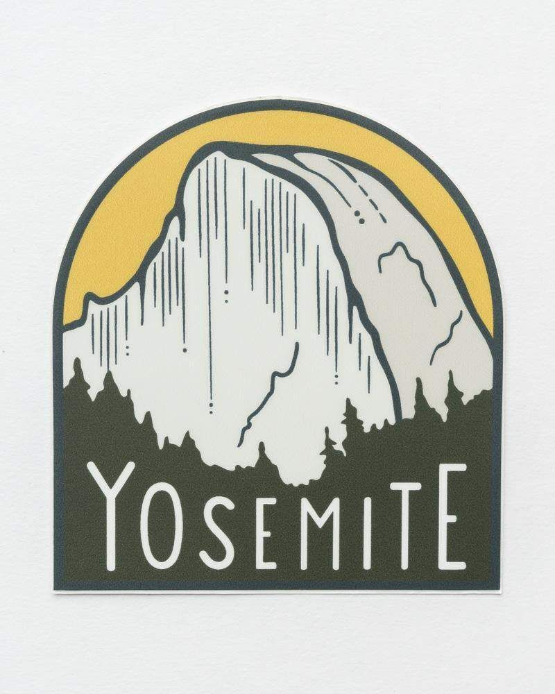Yosemite Half Dome Sticker Half dome yosemite