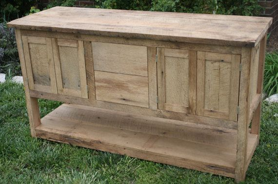 YOUR Custom Made Rustic Barn Wood Double Vanity With Doors