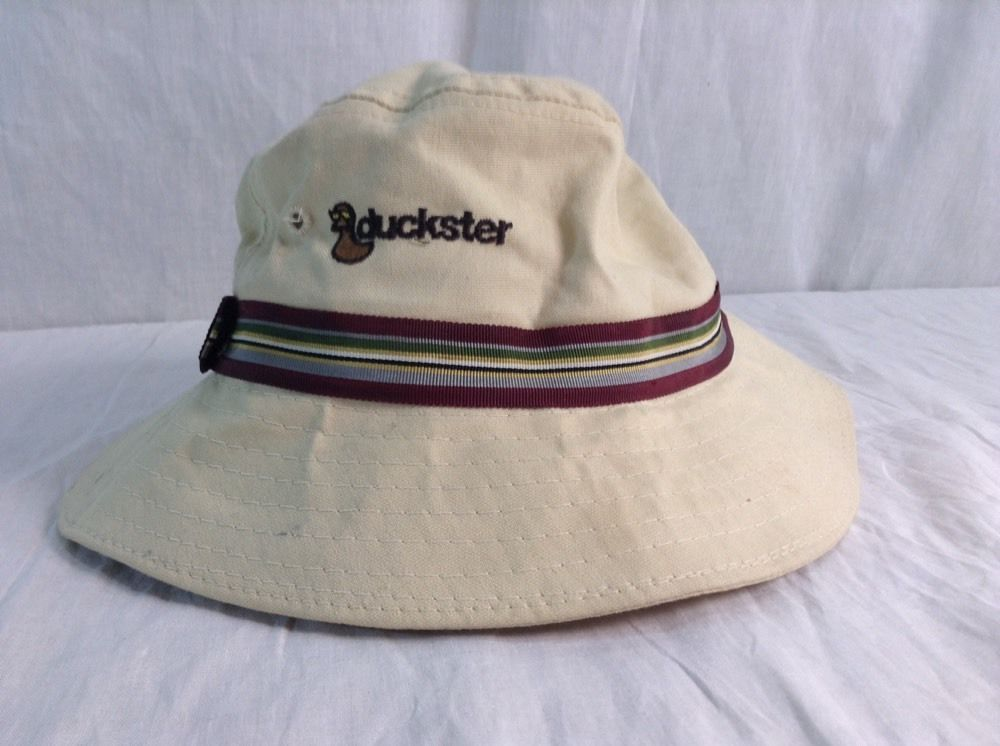 410d6b13eef Vintage Duckster Hat 1988 Sun Crusher Beach Fishing Bucket Cap  SunCrusher   Bucket