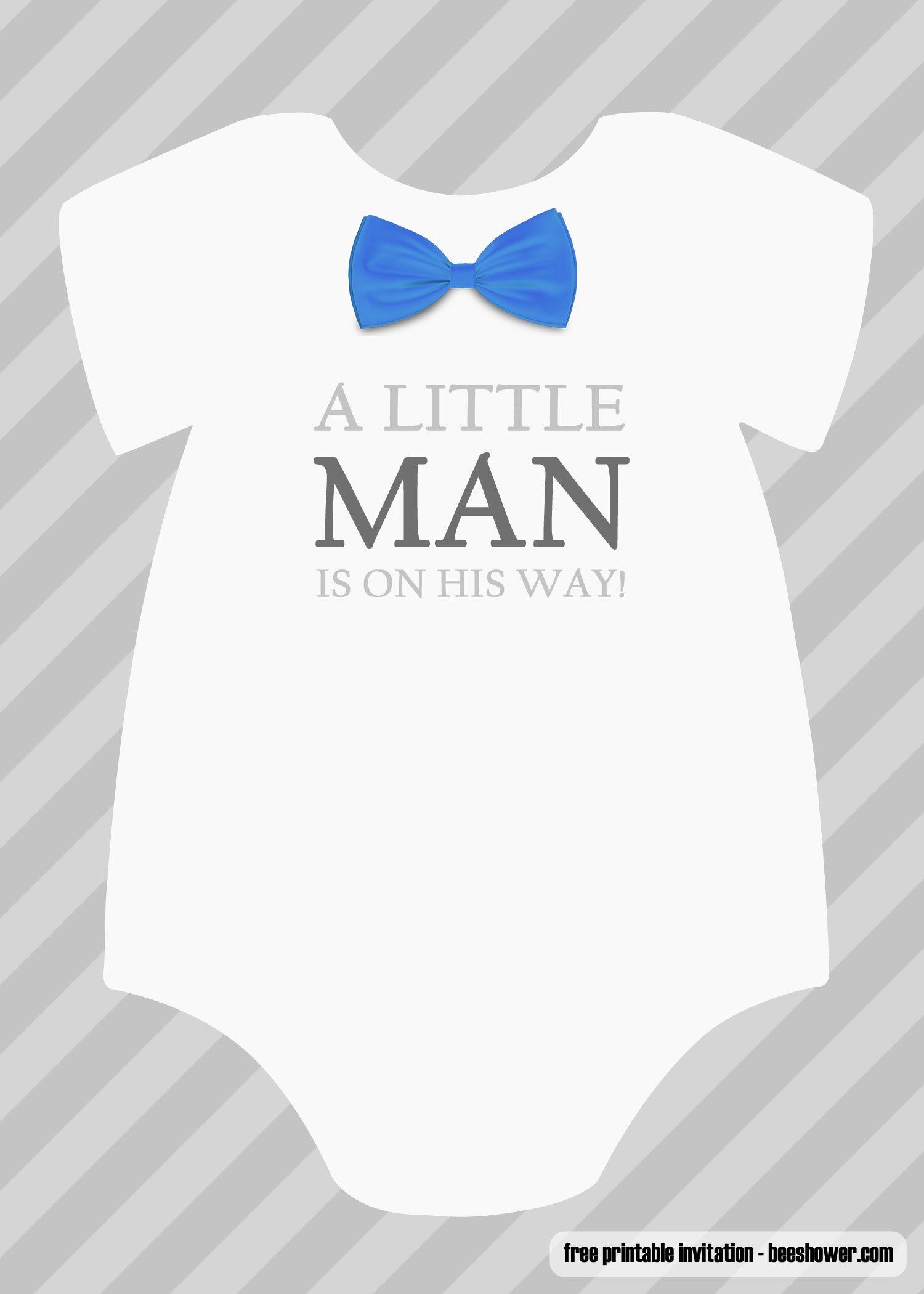 FREE Boy Baby Shower Invitations Templates  FREE Prin  Boy baby
