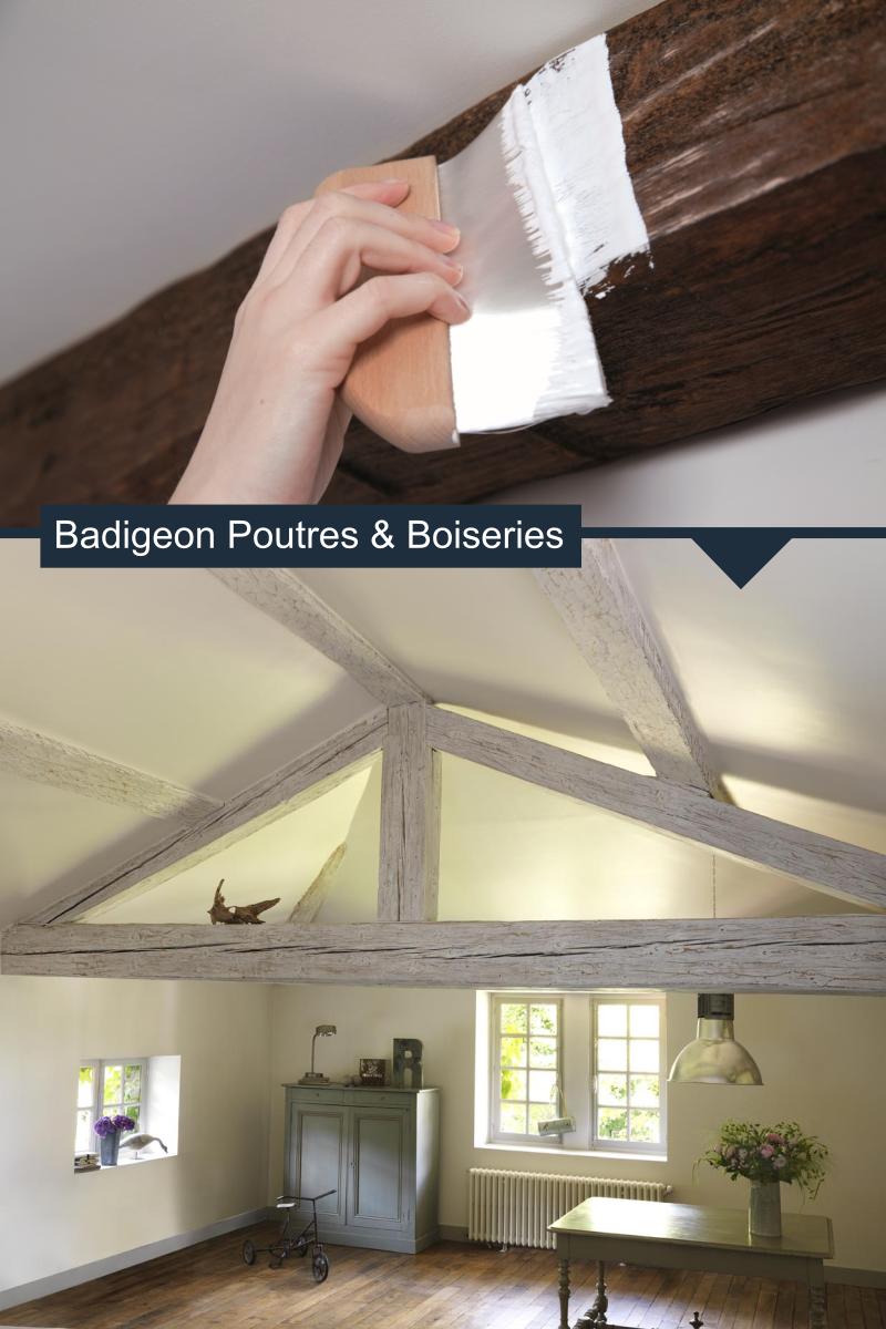 Badigeon Poutres Boiseries Avant Apres Poutre Bois Boiseries Poutre