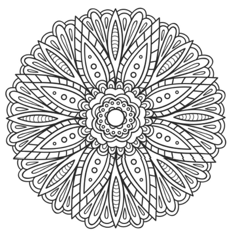 Mandala 665, Mandalas Coloring Book, Dover Publications | Coloring ...