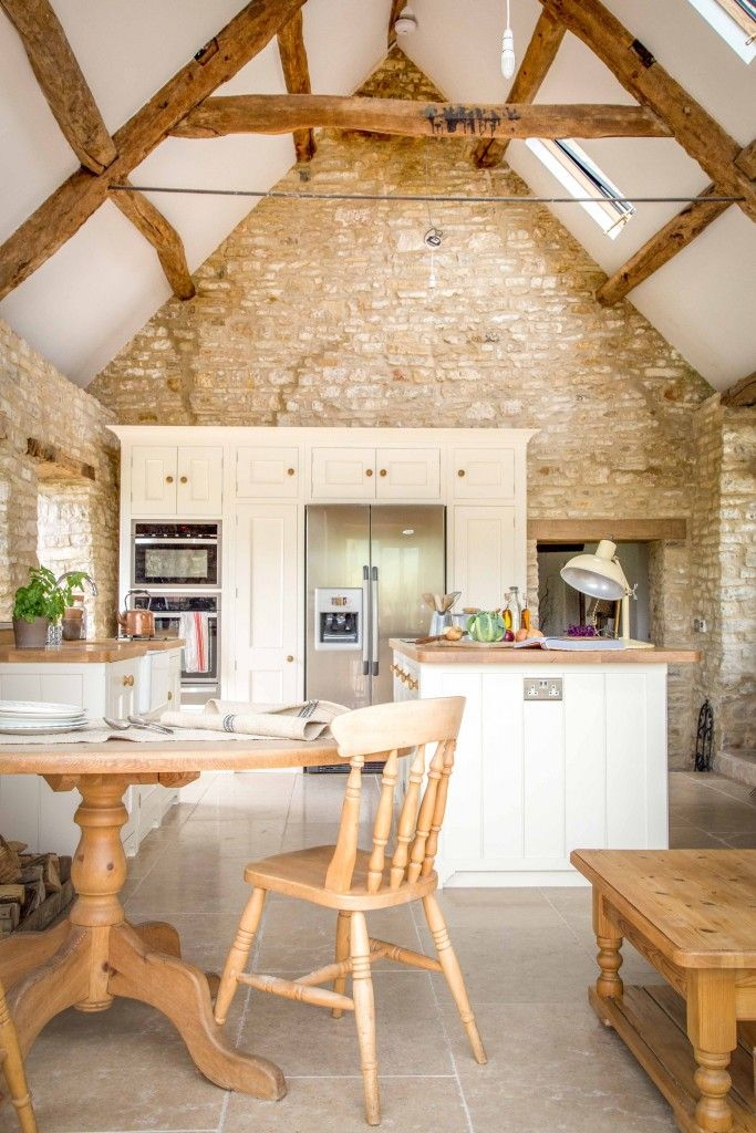 A Traditional Country Kitchen | Oak worktops, Farrow ball and Moulding