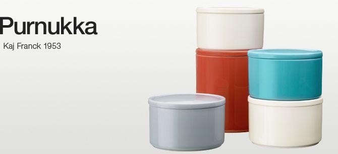 Purnukka. A clever ceramic solution for storing items. Kaj Franck 1953
