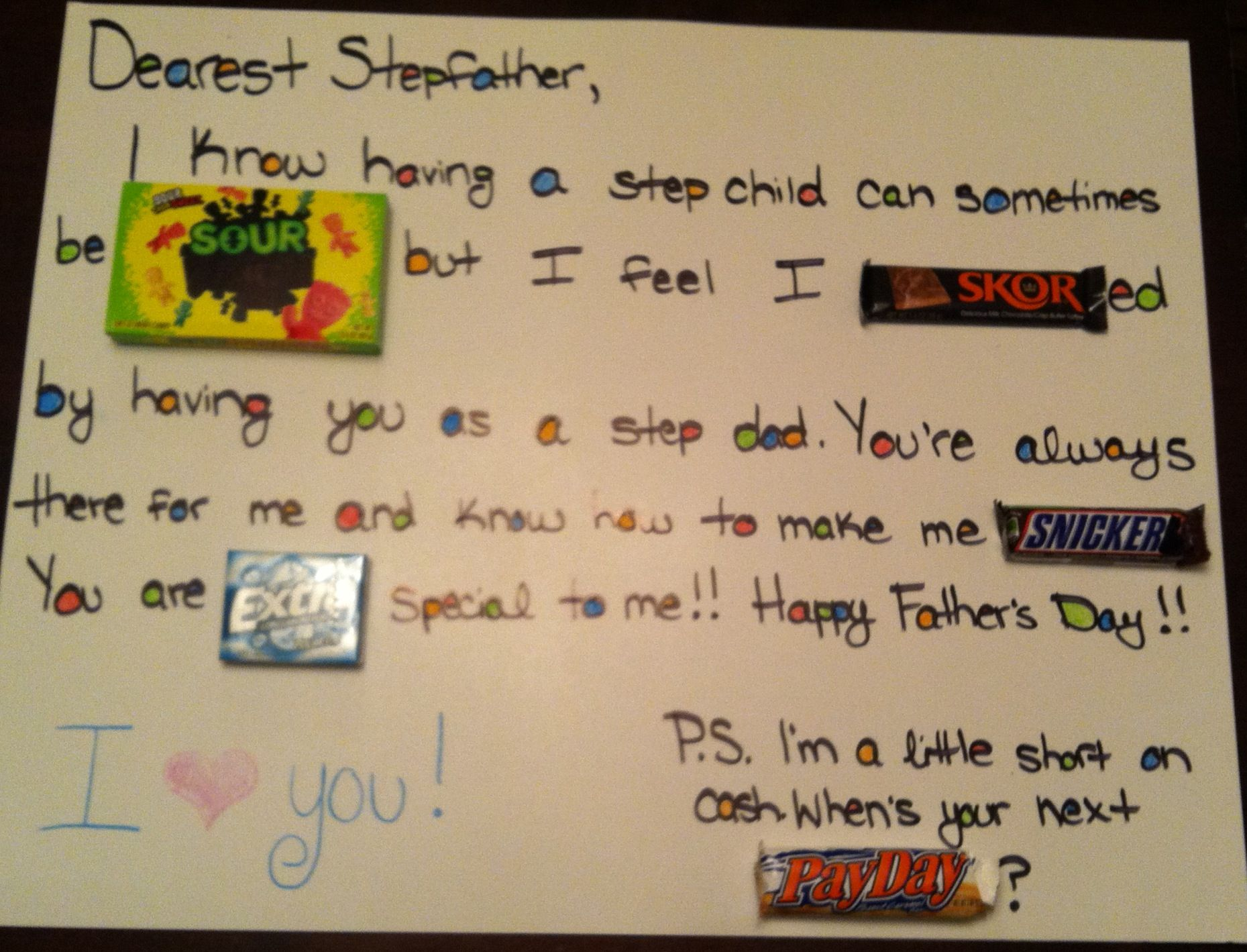 Fathers Day Card For Stepdad