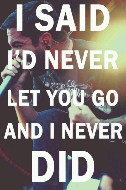 I Said I D Never Let You Fall And I Always Meant It Band