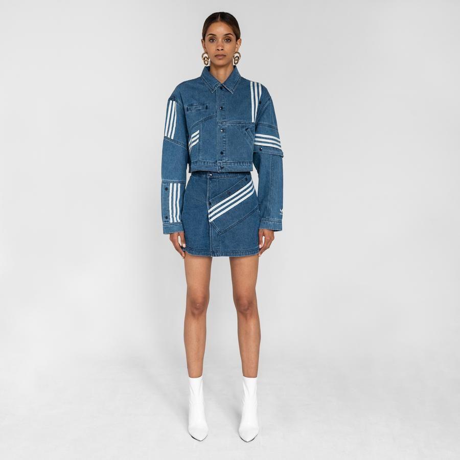 Adidas By Danielle Cathari Denim Skirt Washed Blue Denim Jacket Jackets Denim [ 900 x 900 Pixel ]