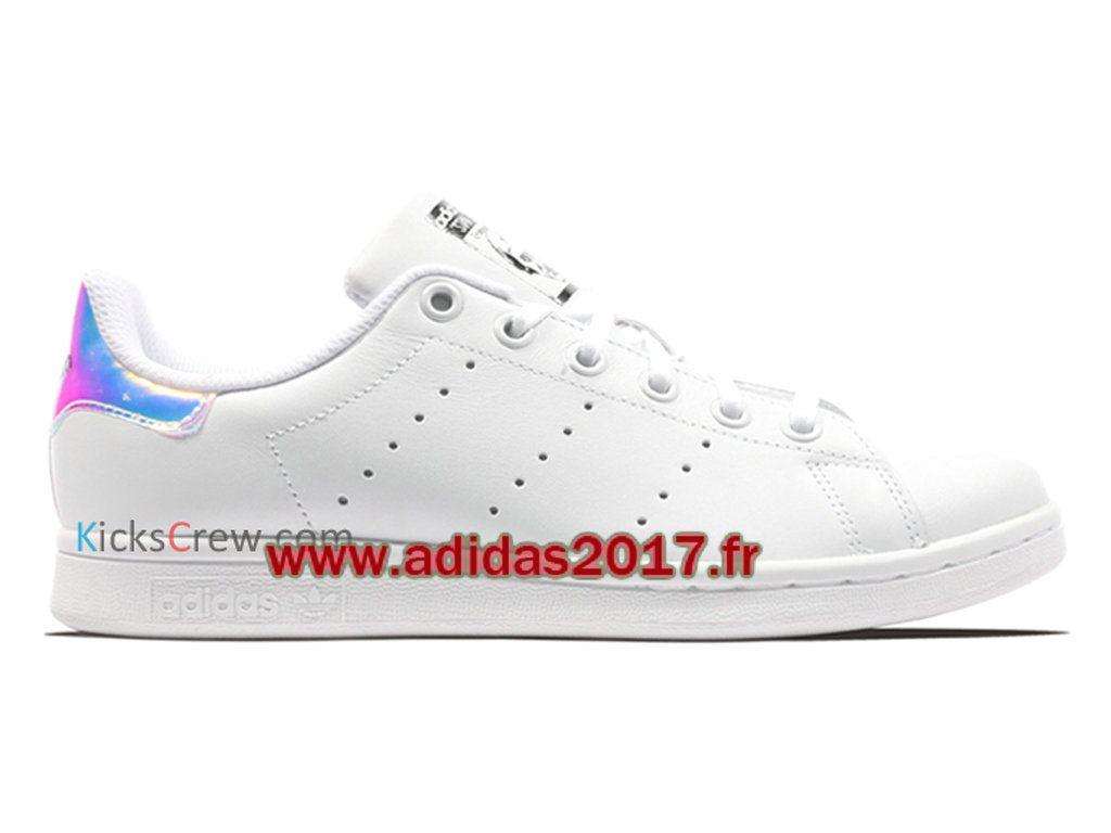 ... Adidas Stan Smith J - Chaussure Adidas Originals Pas Cher Pour  Homme/Femme Hologramme blanc ...