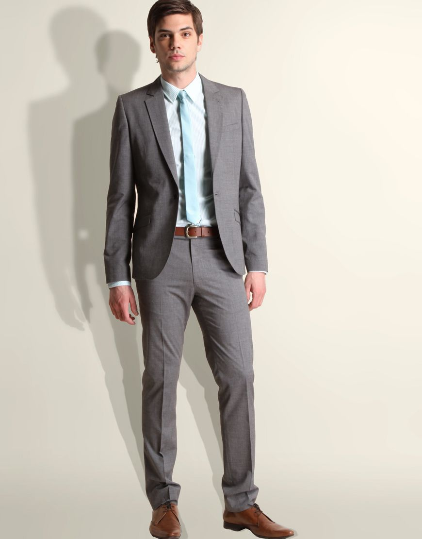 Grey suit brown shoes | Wedding - The Wolf Pack | Pinterest | Grey ...