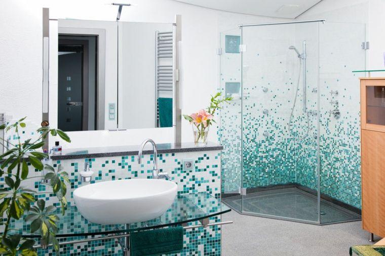 Mosaiken für Badezimmer, inspirierende Ideen Badezimmer - wasserfeste farbe badezimmer