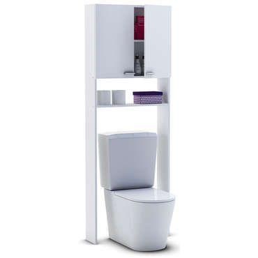 Meuble Haut Wc Coralie Ii Vente De Armoire Colonne Etagere Conforama En 2020 Meuble Haut Wc Meuble Haut Meuble Toilette