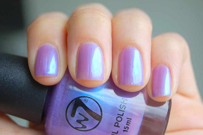 W7 42 Purple Pearl iridescent Duochrome Nail Polish Blue to Lilac ...