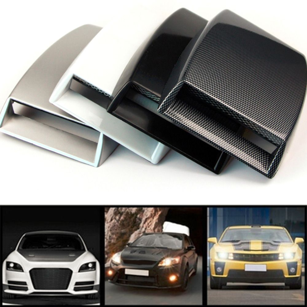 Newest Auto Car Engine Air Flow Vent Plastic Sticker Hood - Plastic stickers for cars