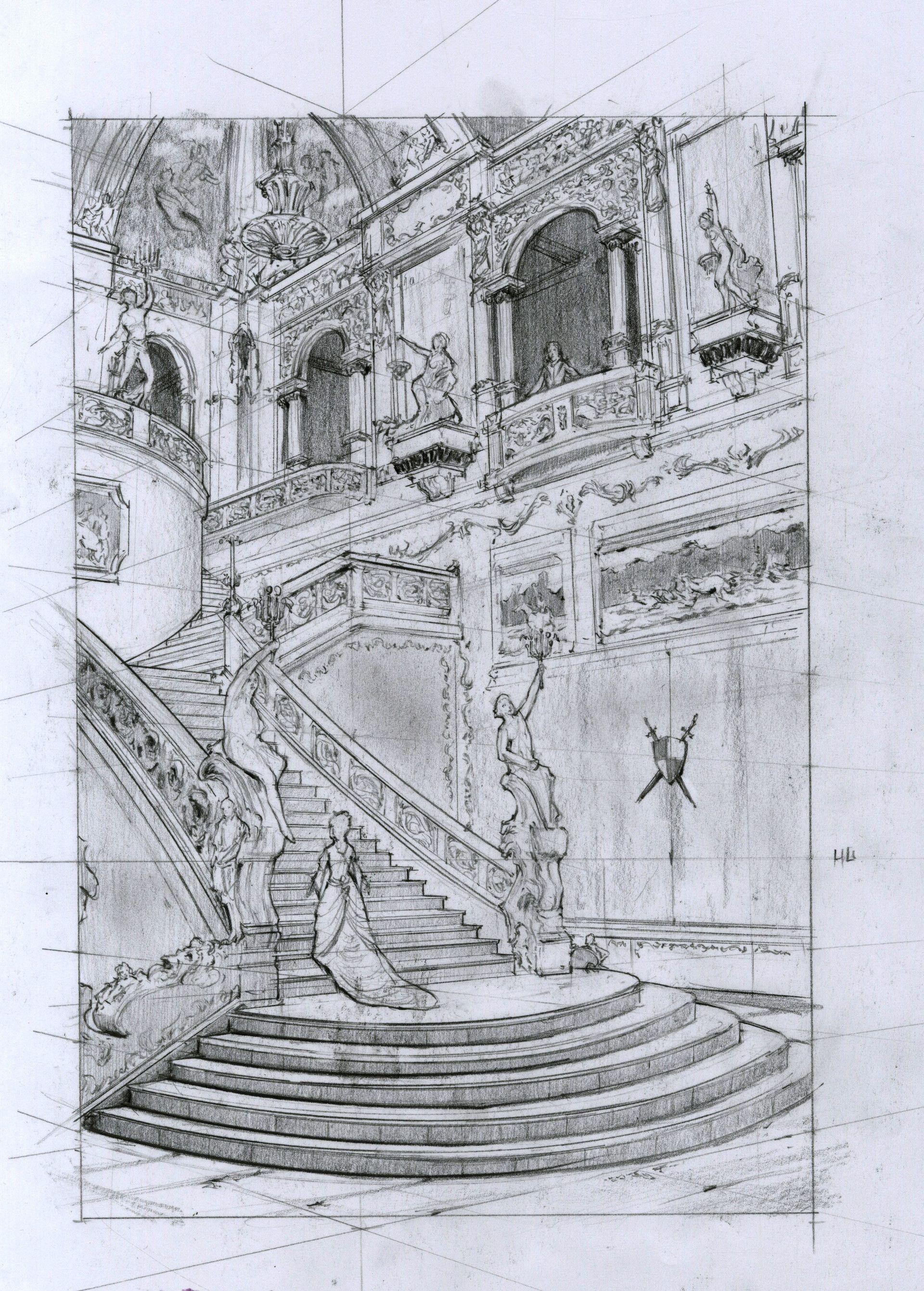 Rococo architecture study