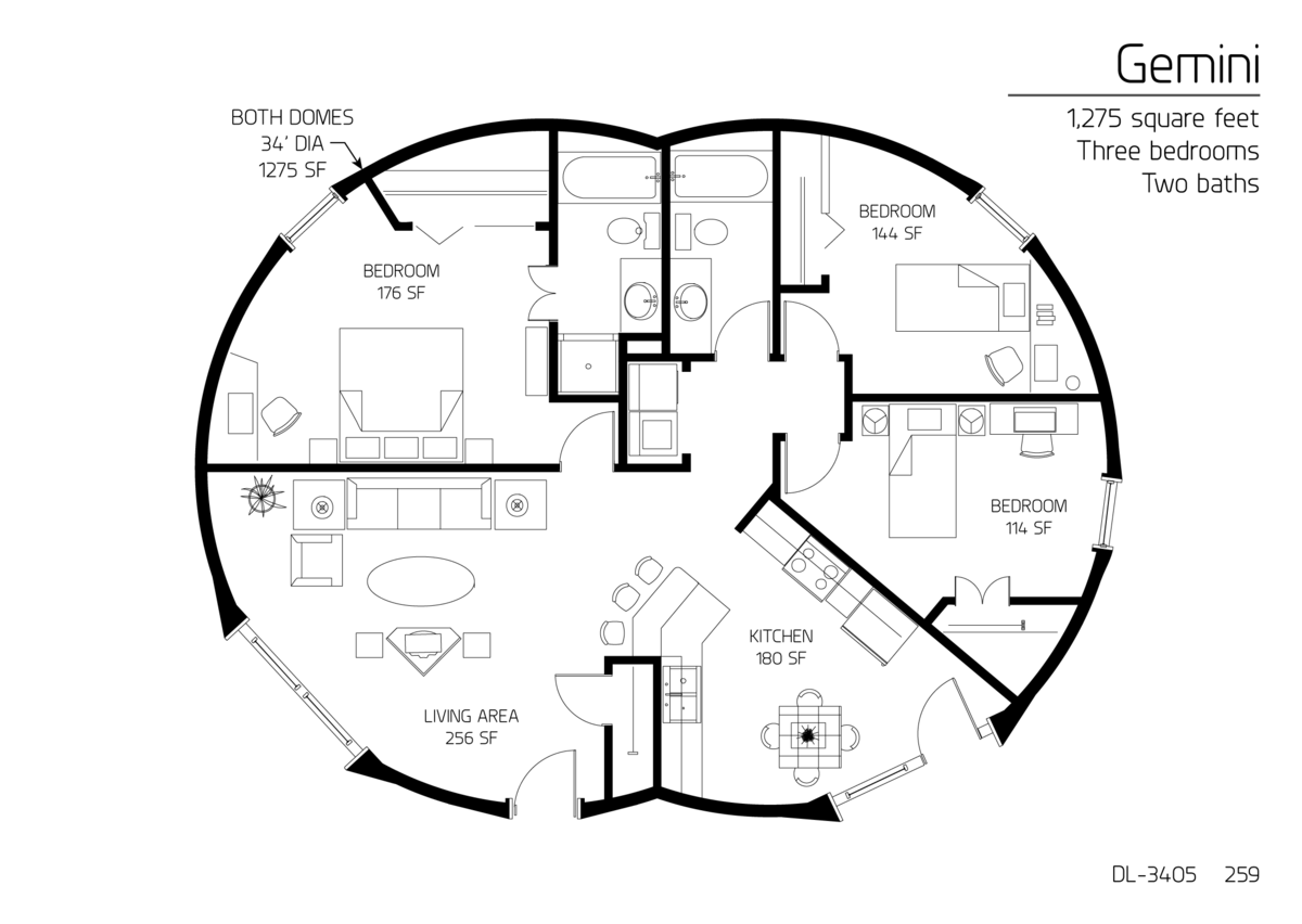 3 larger bedrooms 2 bath 1275 sq feet nice layout top home