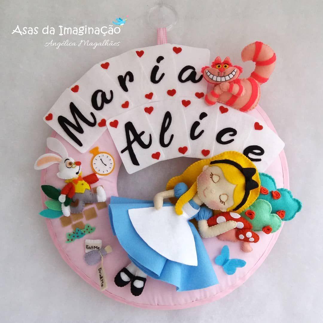 Porta Maternidade Alice No Pais Das Maravilhas Com Imagens