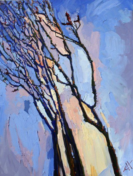 Abstract Ocotillo Oil Painting by Erin Hanson