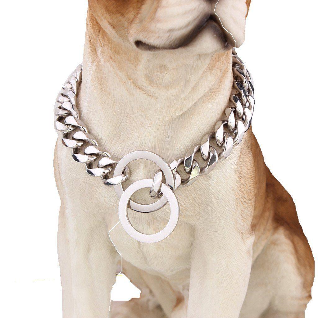 Genuine Leather Big Dog Training Collar Slip P Choke Strong for Pet Dogs Pitbull