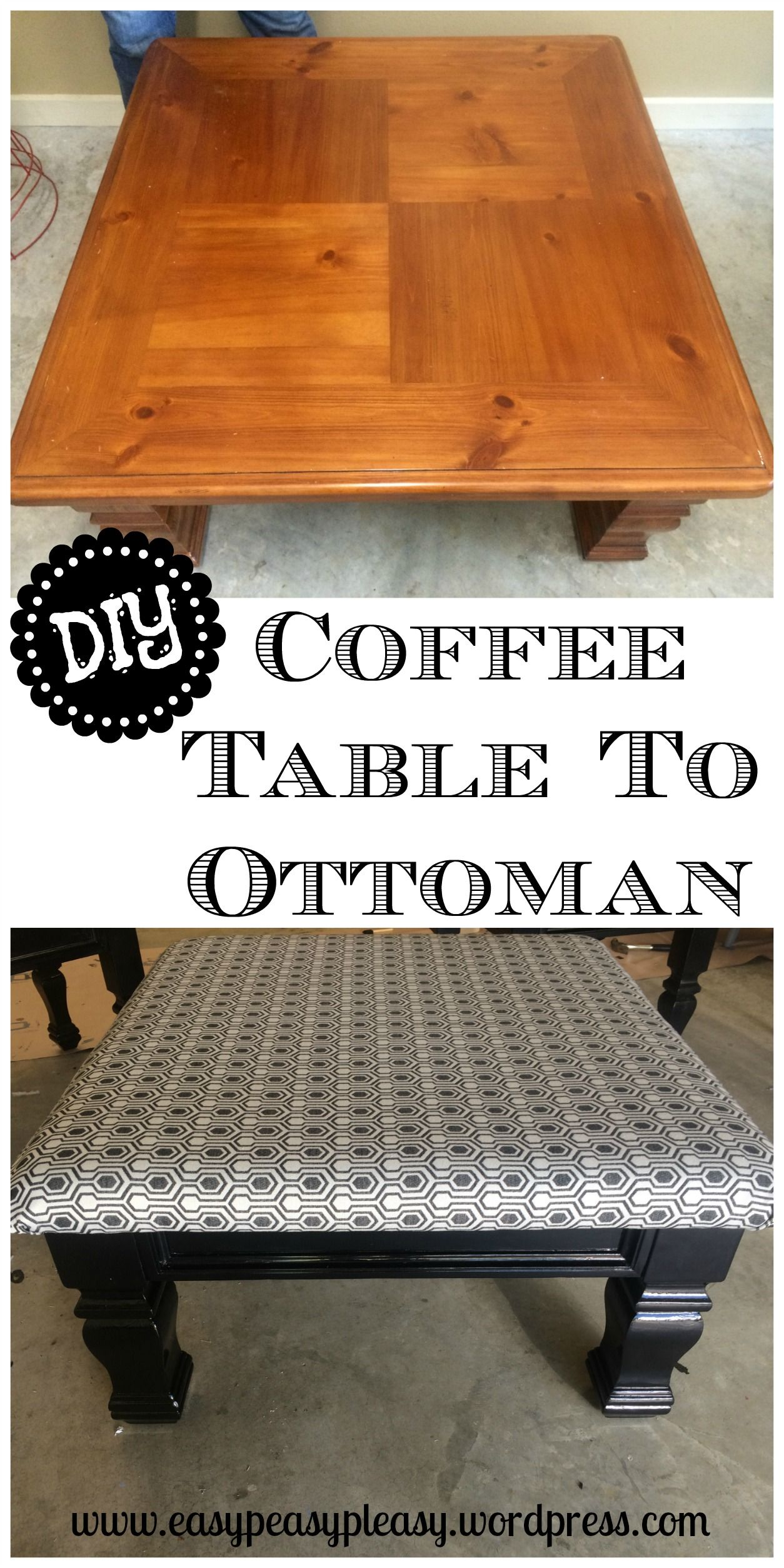 Diy table to ottoman and how to paint furniture without sanding diy table to ottoman and how to paint furniture without sanding geotapseo Images