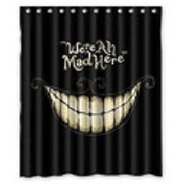 We Are All Mad Here Shower Curtain Alice In Wonderland Room