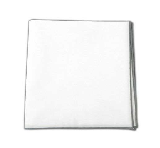 e97d935b Solid White Cotton - Silver Border (PSq) | Ties, Bow Ties, and Pocket  Squares | The Tie Bar