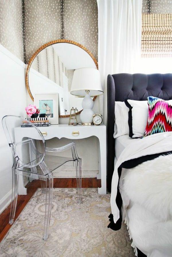 Nouveau Beau moderne gris Coiffeuse De Chambre à coucher