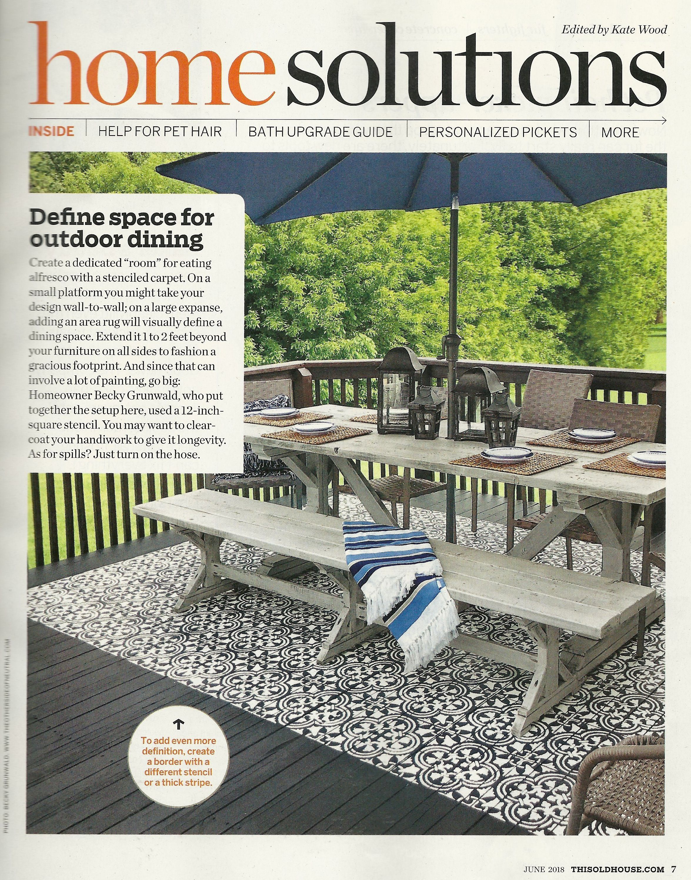 cutting edge stencils feature in this old house magazine with our