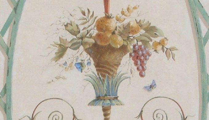 Peinture décorative trompe l oeil architectural art mural décor peint ornementation